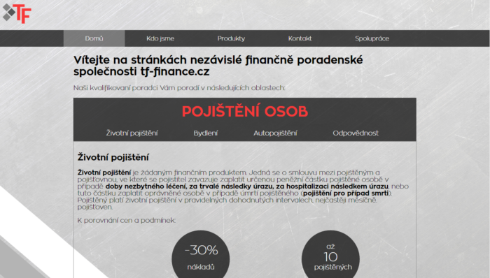 web tf-finance.cz